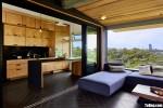 Tủ bếp gỗ Laminate thiết kế màu vân gỗ chữ I  – TBT3933