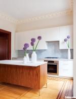 Tủ bếp gỗ Melamine thiết kế hiện đại có bàn đảo – TBT3951