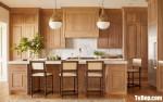 Tủ bếp gỗ Sồi thiết kế cổ điển sang trọng – TBT4060