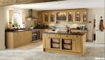 Tủ bếp gỗ Sồi Mỹ tự nhiên sơn PU chữ L kết hợp bàn đảo – TBB5152