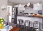 Tủ bếp gỗ Acrylic chữ I thiết kế sang trọng – TBT4117