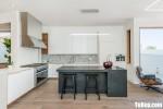 Tủ bếp gỗ Acrylic thiết kế sang trọng  hiện đại– TBT4145