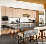 Tủ bếp gỗ Melamine thiết kế hiện đại có bàn đảo – TBT4147