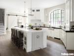Tủ bếp gỗ Xoan Đào thiết kế có bàn đảo tiện dụng – TBT4186